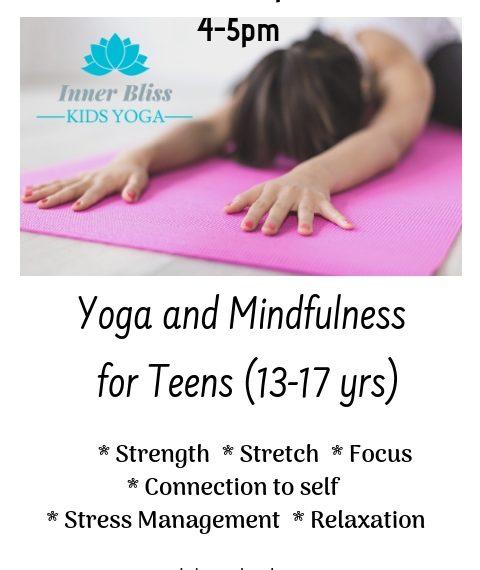 Teen Yoga Workshop Inner Bliss